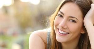 Slow the ageing process - smiling girl
