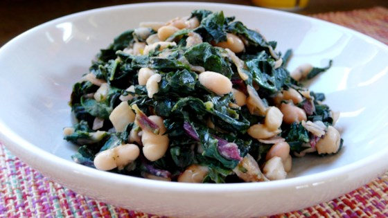 Gut Health Recipe-Greens with Cannellini Beans and Pancetta