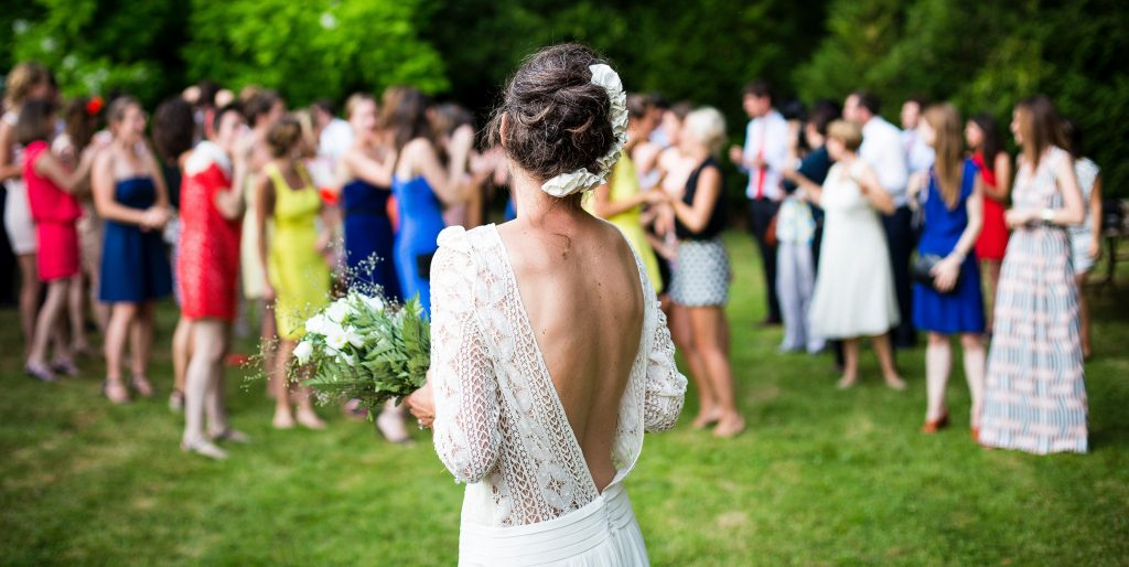 Wedding Makeup Outdoors Celebration