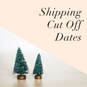 Christmas Shipping Cut Off Dates
