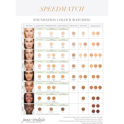 Jane Iredale Foundation matching card