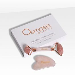 Osmosis Rose Quartz Facial Roller & Gua Sha Set